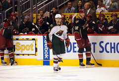 A Wild amongst the Yotes (Hockey & Cats) Tags: wild hockey nhl phoenixcoyotes coyotes minnesotawild nickjohnson kylechipchura
