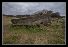 Pillbox on the beach at Sand Bay (Travels with a dog and a Camera :)) Tags: uk england southwest west building art abandoned beach digital photoshop bay coast dc sand pentax unitedkingdom south wwii north ruin sigma somerset coastal 1020mm derelict defences febuary 43 k5 pillbox northsomerset lightroom cs6 sandbay 2013 1456 kewstoke justpentax sigma1020mm1456dc pentaxart pentaxk5 photoshopcs6 lightroom43