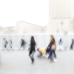perambulation (Jon Downs) Tags: uk blue people brown white black blur color colour london art colors yellow thames sepia canon downs photography grey photo jon flickr artist colours photographer image united gray cream picture kingdom pic powershot southbank photograph embankment agora icm deepavali g11 intentionalcameramovement jondowns