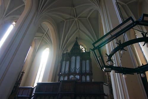 Prospekt organowy w kościele św. Jana Ewangelisty w Paczkowie
