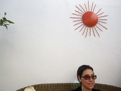 isa (maximorgana) Tags: orange woman sun mimbre valencia rose metal hair glasses sitting sofa short bud cushion isa