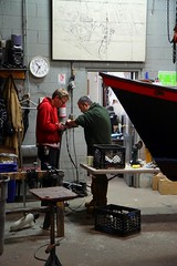 Mike and Elvis working on an electric motor