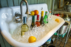 sink drinks (Darren LoPrinzi) Tags: ice canon sink wine bottles drink champagne drinks icecubes winebottles canon7d