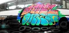 KGBus (KGB Click) Tags: paris bus car writing graffiti paint peinture graff flop throwup kgb wildstyle hva saner ptdq kgbclick