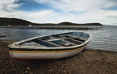Isla del Sol (hdehner) Tags: blue sky lake uros titicaca lago boat nikon dynamic angle wide documentary bolivia range bote d7000