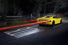 Slow Speed (AndWhyNot) Tags: road light lightpainting car forest slow traffic trails fast markings spectre r45 0873