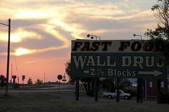 Wall at Dusk (the_mel) Tags: wall southdakota billboard advertisement drugstore walldrug walldrugstore