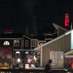 night vision (Riex) Tags: sanfrancisco california tower night evening illuminated soiree pier39 sfba nuit coit afterdark californie illumine s95 canonpowershots95