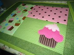 Jogo Americano cupcake. (doces retalhos) Tags: patchwork jogo americano patchcolagem