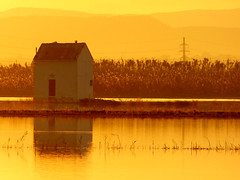 La a-dorada Albufera (.Bambo.) Tags: sunset orange sun lake sol water valencia yellow lago atardecer canal casa agua amarillo invierno naranja ocaso tarde laalbufera