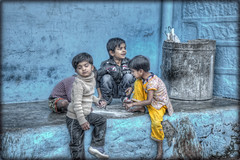 # 05/2013 - Rajasthan - India .......... Jodhpur The Blue city (celestino2011) Tags: india raw blu ngc giochi citt bimbi