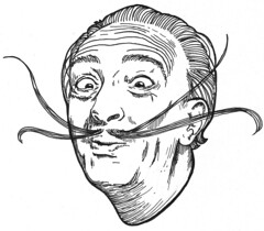 Salvador Dali (ily kerr) Tags: portrait man illustration crazy energy artist drawing surrealism excited moustache surrealist mad dali salvadordali inspire tote inspiring exciting kopparberg teacakedesign unestablished unestablishment unestabilshed