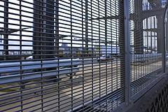 Bridge Traffic (oxfordblues84) Tags: bridge fence grate au sydney australia nsw newsouthwales sydneyharbourbridge thecoathanger