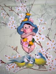 cippottino primaverile (mindi64) Tags: life baby cute rabbit home myself handmade bambini io fimo fantasy clay fate gift creature atmosfera candybox bomboniera creations magia cernit dono bomboniere polyclay artigianato pulcini artigianale gnomi coniglietti mindi64 gnomini