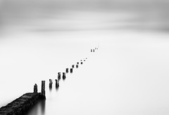 Receding (annemcgr) Tags: longexposure sea dublin mist seascape water monochrome clouds blackwhite le malahide fineartphotography