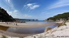 La Vall, Platja d'es Bot (50josep) Tags: beach playa nubes invierno hombre menorca ciutadella panormica canon40d 50josep geomenorca geomenorcaonlythebest