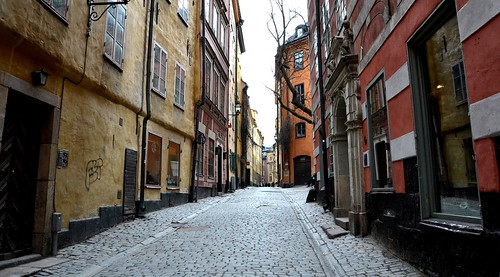 Narrow Street in Gamla Stan, Stockholm by 2benny, on Flickr