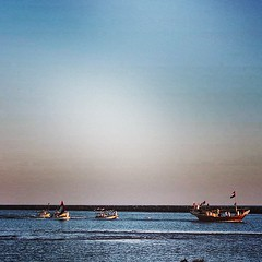 #   #   #   #  #uae #kalba#kc#sea#boat#beach (~ it's OvEr) Tags: square squareformat mayfair iphoneography instagramapp uploaded:by=instagram