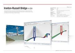 Ironton-Russell Bridge in USA (MIDAS IT) Tags: bridge project russel cable structure application civil pont dart stayed midas voute analysis poutre ironton suspendu ouvrage analyse haubant structurelle