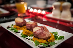 On my plate ... (Wan ~stuck in catch up loop) Tags: food candles dof bokeh scallops butternut saltandpepper nikkor1755f28g nikond300 wmekwiphotography mekwicom