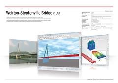Weirton-Steubenville Bridge in USA (MIDAS IT) Tags: bridge usa project cable structure application civil pont dart stayed midas voute steubenville weirton analysis poutre suspendu ouvrage analyse haubant structurelle