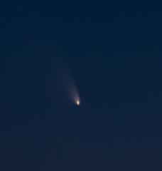 Comet pan-starrs (VisualBurrito) Tags: moon beach coast crescent newport comet panstarrs