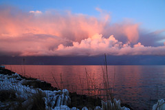 Pink Snow clouds (har_k) Tags: sunset sun snow clouds canon eos evening sundown lely medemblik ijsselmeer freezin