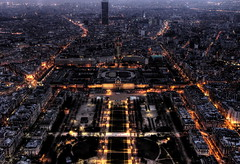 Champ de Mars view from Tour Eiffel (Holanda R.) Tags: city mars paris france tower night de lights torre tour frana eiffel vista campo montparnasse marte visto champ