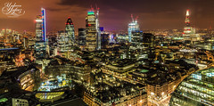Bright light city gonna set my soul (Paki Nuttah) Tags: city uk light england building london architecture night buildings dark lights europe long exposure cityscape low gb tall shard gherkin