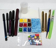 Sketch Kit #3, Main Pocket Stuff (CarolePivarnik) Tags: watercolor sketchkit