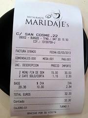 Burgos | Maridajes | Cuenta (moverelbigote) Tags: ticket cuenta burgos maridaje maridajes moverelbigote maridajes