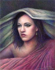 Nightfall (kelch12) Tags: girl beautiful beauty pencil classical colored protrait realism