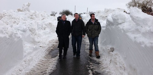 First Minister Sees Impact of Snow in Co Down
