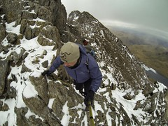 Grin Goch - Snowdondia - Wales 2013 (Rob Scothern) Tags: winter mountain snow black ice rock wales scary hike diamond snowdonia scramble arcteryx gopro uploaded:by=flickrmobile flickriosapp:filter=nofilter gopro3 arcterx