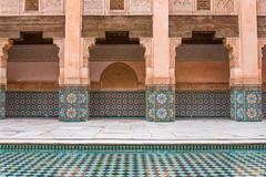 Madrasa in Marrakech 4 (Alessandro Vecchi) Tags: africa water piscina swimmingpool morocco marocco marrakech maghreb marrakesh acqua viaggio madrasa benyoussef nordafrica