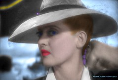 "For Mystic Ed, (who loved Bette Davis and particularly, ""Camille Beauchamp,"") and made the great transition from Earth to the Universe today. I'll miss you. ""Now, Voyager, sail thou forth, to seek and find."" (Walker Dukes) Tags: california blue woman black green art film beautiful face hat photoshop canon screenshot glamour purple young lips hollywood actress movies filmstill filmstills actor diva moviestills moviestill moviestars oldmovies photomatix oldhollywood picturesofthetelevision abigfave canonxti"