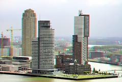 Kop van Zuid Rotterdam 3D (wim hoppenbrouwers) Tags: kopvanzuid rotterdam 3d anaglyph stereo redcyan view from euromast