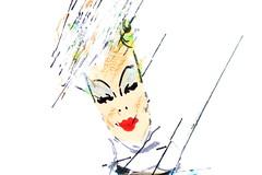 dett 8 (ash. disegni) Tags: volto donna retro cappello disegno composizione dettaglio detail woman hat francesco alberti francescoalberti