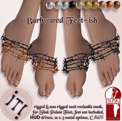 !IT! - Barbwired Feet-ish Image (IT! (Indulge Temptation!)) Tags: fetishfair it itindulgetemptation indulgetemptation exclusive event secondlife sl slink pointe izzy