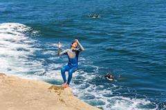 ArchitectGJA-4726.jpg (ArchitectGJA) Tags: lighthousepoint surfing californiababy hurley wetsuit coastlife ripcurl xcel lighthousefield california beach marineanimals coast cliffs waves streetphotography oneill surfingsteamerlane santacruz gabebalassone steamerlane montereybay