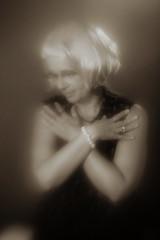Vicki (giltay) Tags: topw topwppl torontophotowalks torontophotowalksportraitsandpotluck vicki blackandwhite blackwhite sepia wig portrait