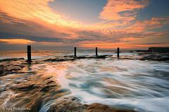 Fence (renatonovi1) Tags: fence sunrise rockpool ocean sea water motion clouds sky coogee nsw australia seascape landscape