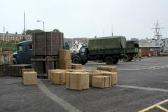IMG_7105 - Dunkirk Film Set - Weymouth - 28.07.16 (Colin D Lee) Tags: christophernolan warnerbros studio hollywood movie film set dunkirk weymouth quay dorset worldwar2 filming trucks boxes