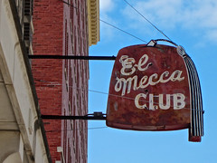 El Mecca Club, Waterloo, IA (Robby Virus) Tags: waterloo iowa el mecca shrine shriners club lodge building temple fraternal neon sign signage fez