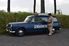 "Unique and special : completely original Peugeot 403 Break in ""Gendarmerie"" livery."