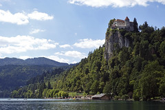 Day 3. Bled Castle, Slovenia (steven.kemp) Tags: adriatic cruise slovenia lake castle church bled landscape water trees