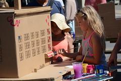 Focused (SCMowbray) Tags: littlegirl painting diorama art cardboardart funtimes muralfestival vancouver focused nikond7100