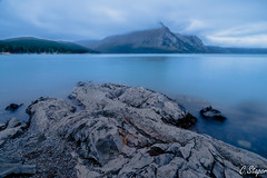 Lake Minnewanka before sunrise (christianstapor) Tags: lakeminnewanka banffnationalpark banff alberta canada canadianrockies mountains longexposure fujifilmxt10 fujifilm xf1024mm dawn landscape nature outdoor