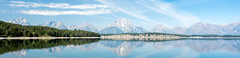 Jackson Lake (craftyalliekat) Tags: grandtetonnationalpark jacksonlake lake water reflection mountains daylight day clouds blue nikon d2700 panorama wyoming wy trees landscape