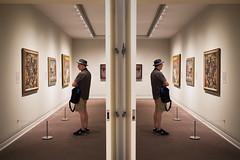 Opposing Views, The Met - NYC (MB DeGeorge) Tags: art surreal symmetric parallel met museum new york city fuji xt1 xf23mm mirror image
